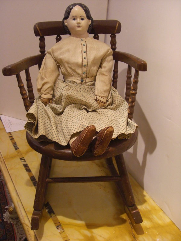 Malls In Ct >> Vintage Child's Rocker with Circa 1900 Doll For Sale