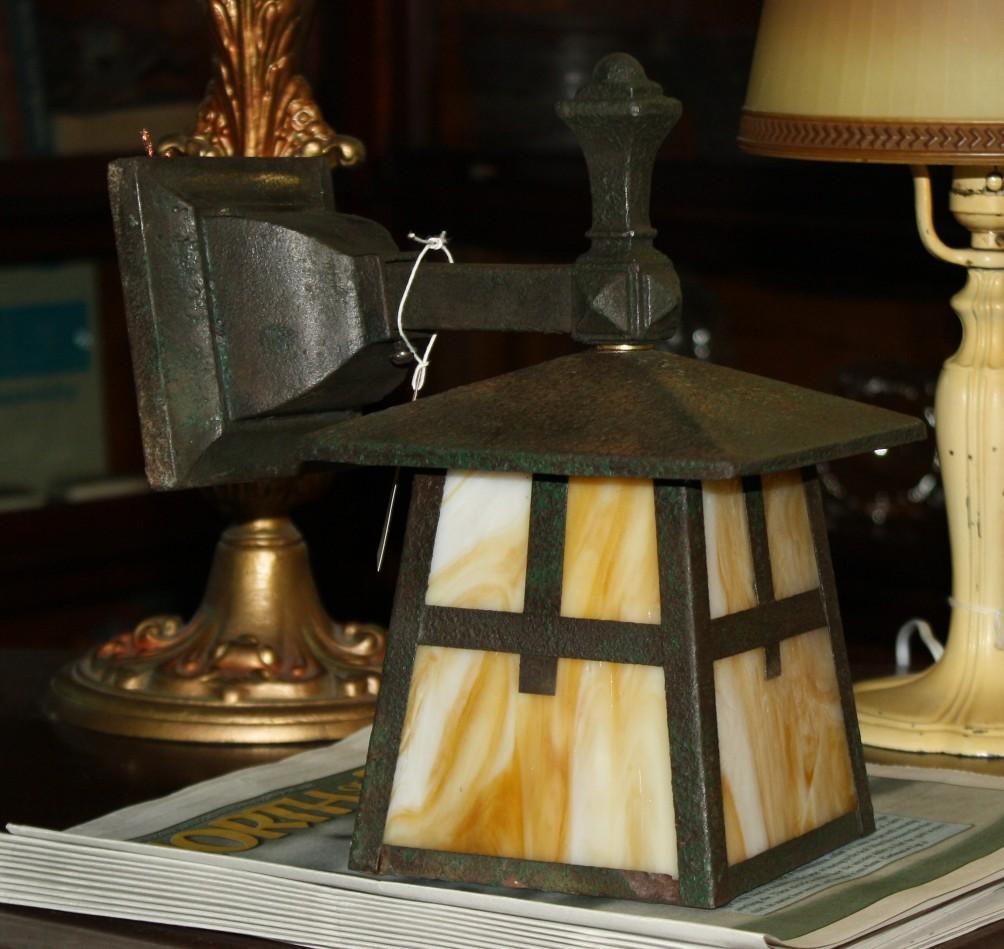 Porch Light Appraisal: Original Misson Porch Light For Sale
