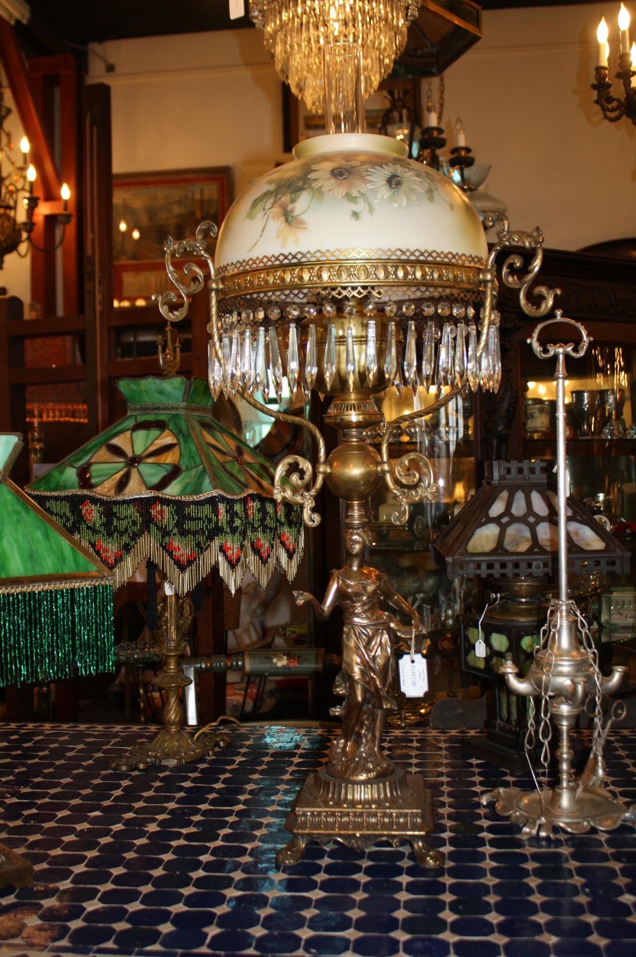 Victorian Kerosene Lamp For Sale Antiques Com Classifieds