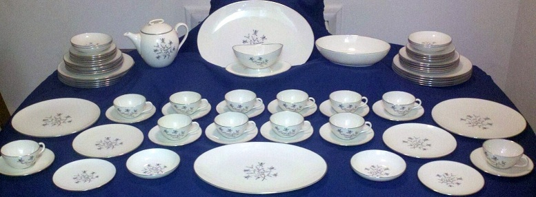 A full set of Lenox china in the  Princess  pattern (Model No. X-516) originally manufactured in 1954. This pattern has long been discontinued ... & 71 Piece Lenox Princess China Set (Including 12 Full Place Settings ...