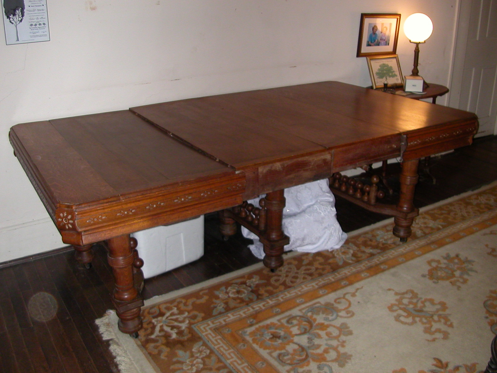 Large Eastlake Style Mid To Late 1800 S Period Solid Oak
