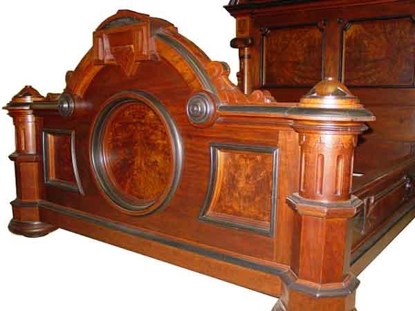 Monumental 3 Pc American Victorian Bedroom Set By Thomas Brooks C
