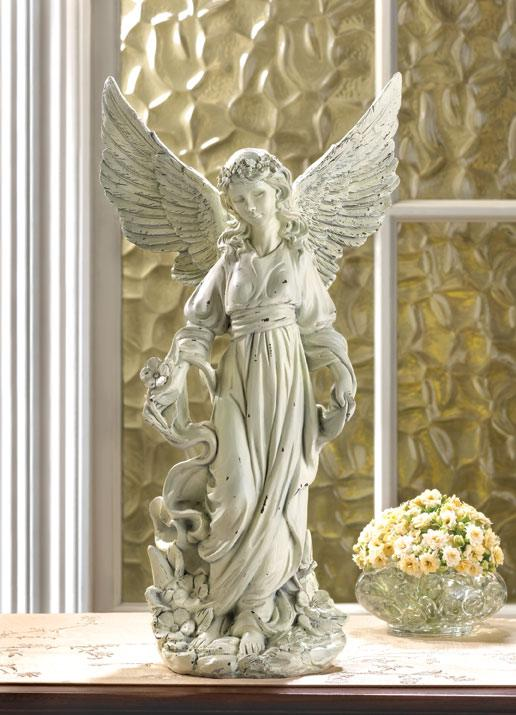 Classic Guardian Angel Statue For Sale
