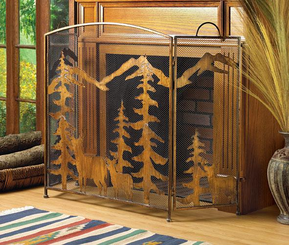 Rustic Forest Fireplace Screen For Sale Classifieds