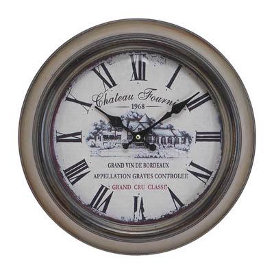 wine chateau vintage wall clock for sale