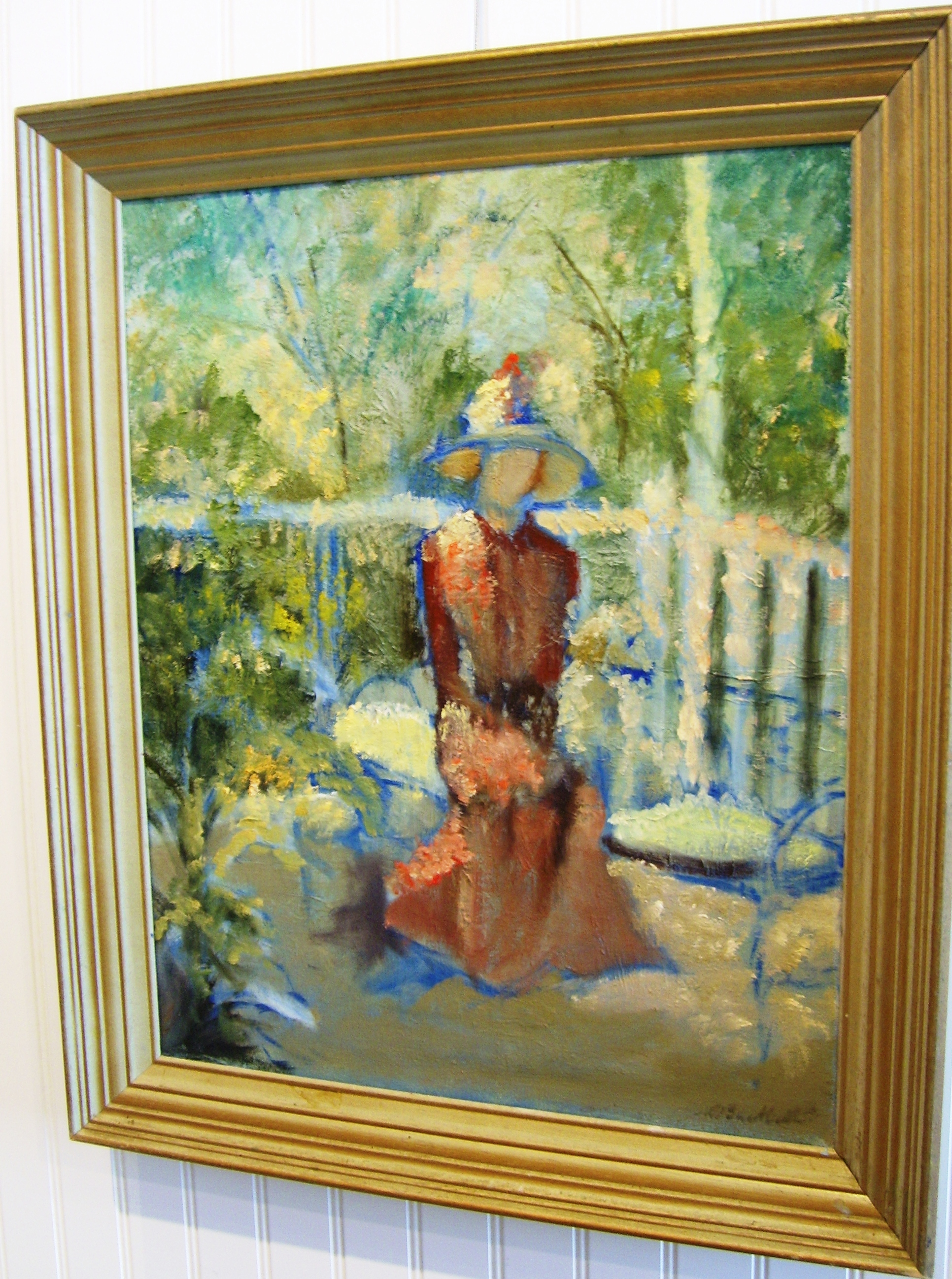 Seated Lady Framed Oil By Mary Ackerman Buckwalter For