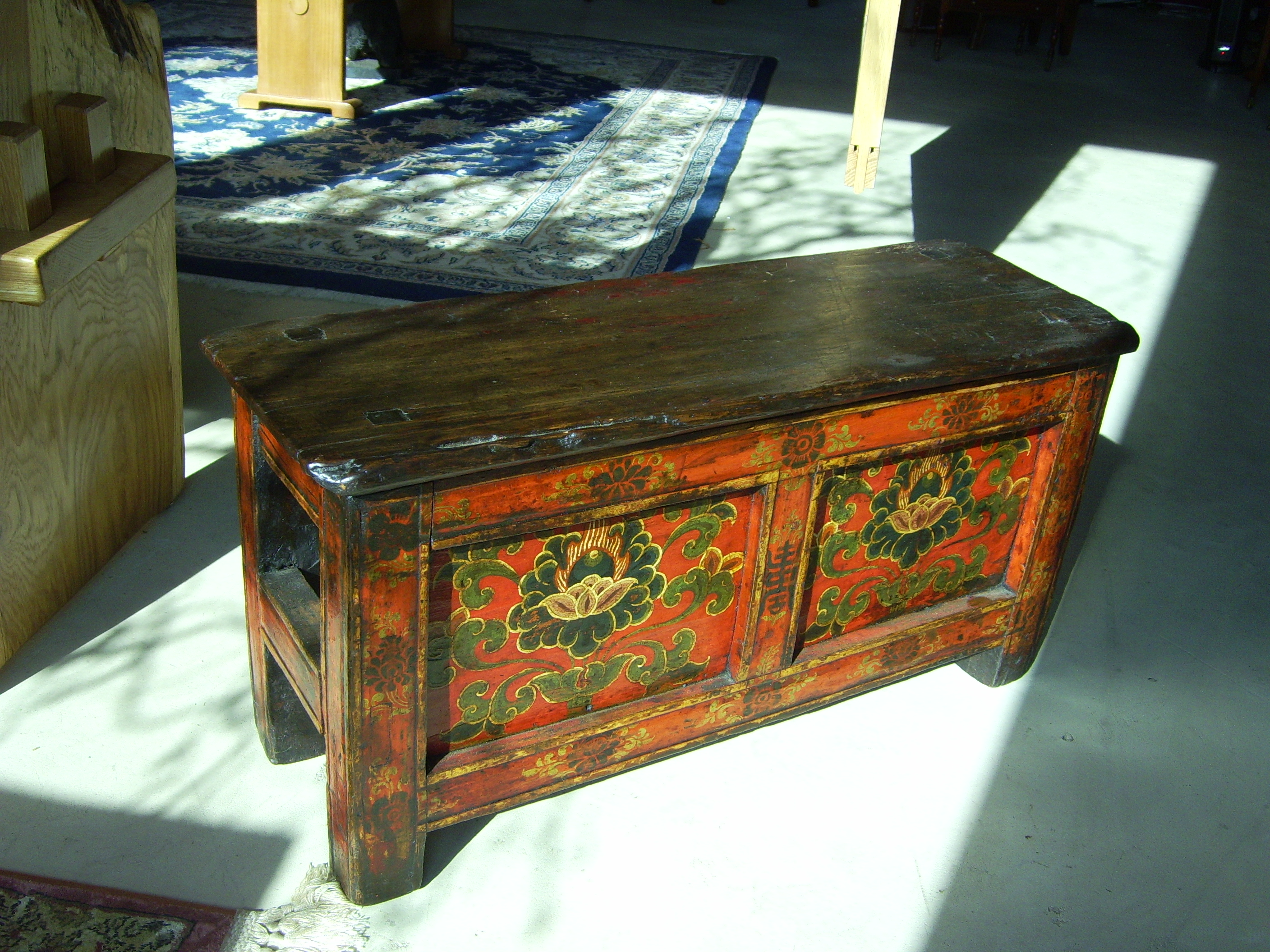 Tibetan Prayer Bench 19th Century For Sale Classifieds
