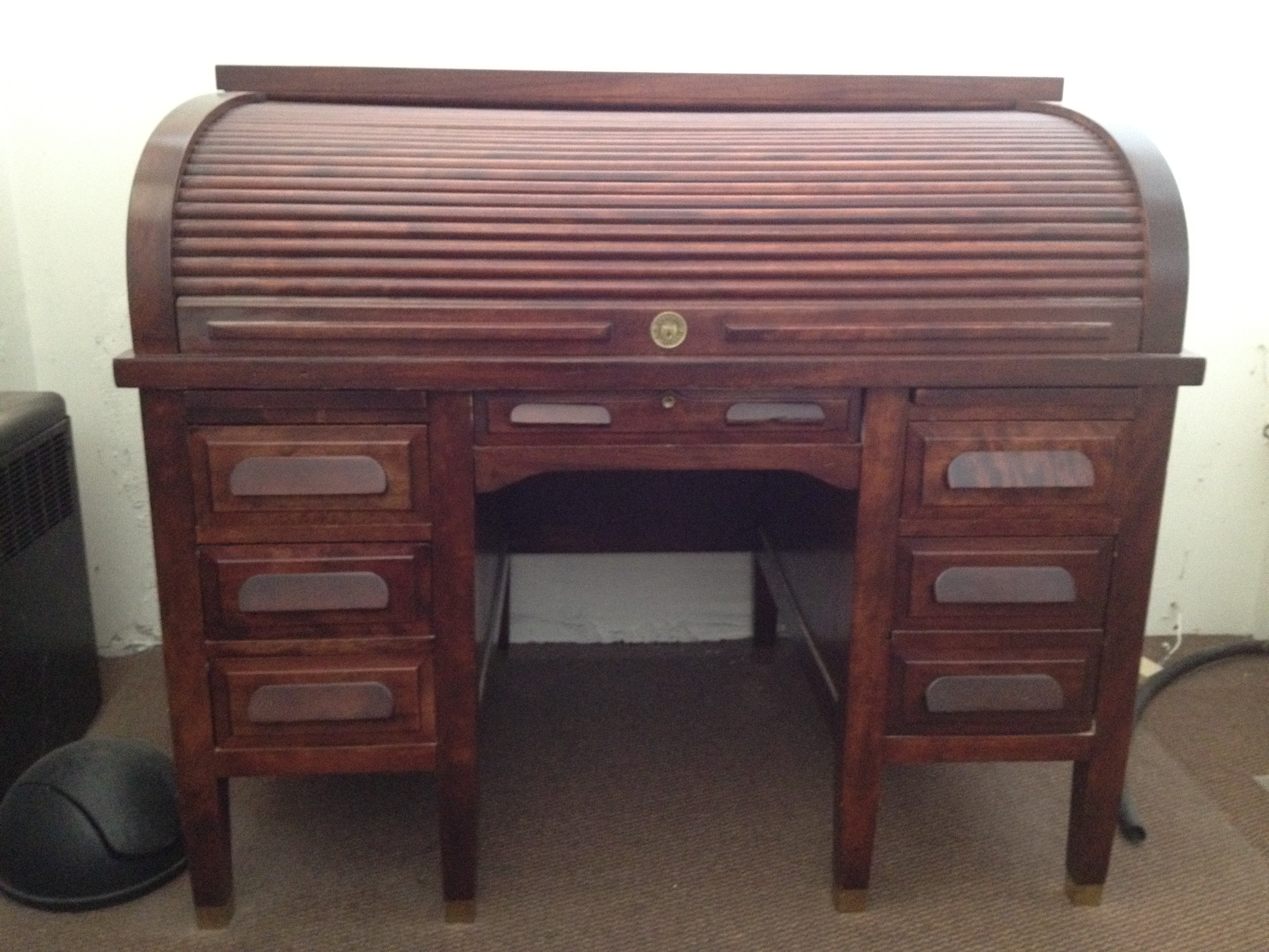 1940 39 S Standard Mahogany Roll Top Desk For Sale Antiques
