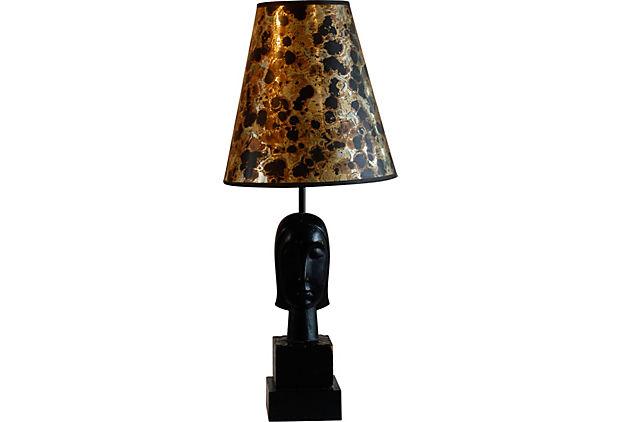 art deco wood bust lamp for sale classifieds. Black Bedroom Furniture Sets. Home Design Ideas