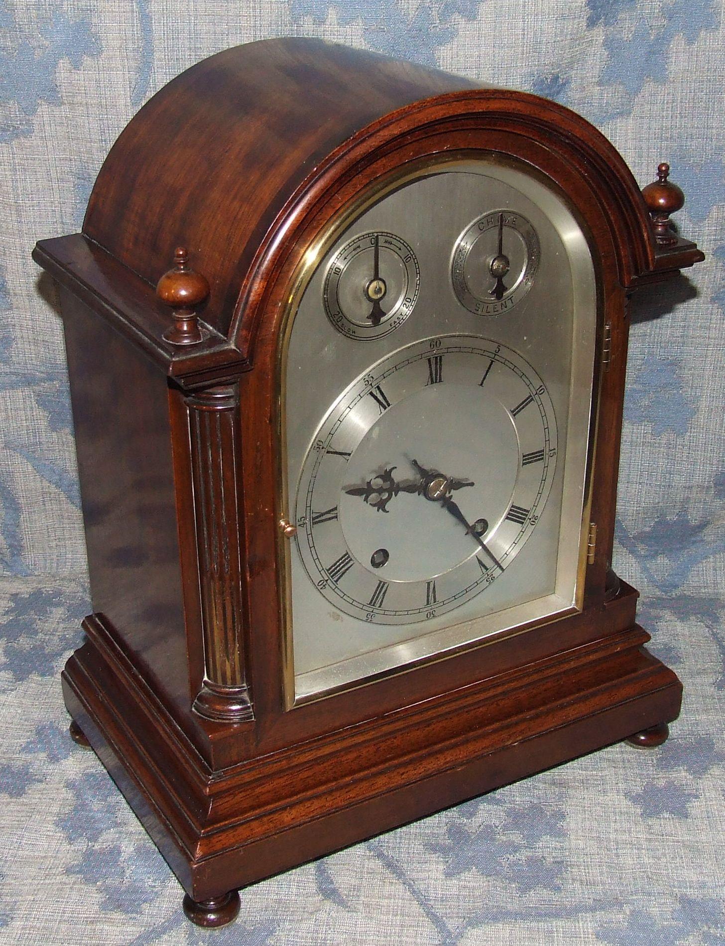 Antique Ting Tang Striking Mahogany Bracket Clock W & H ...