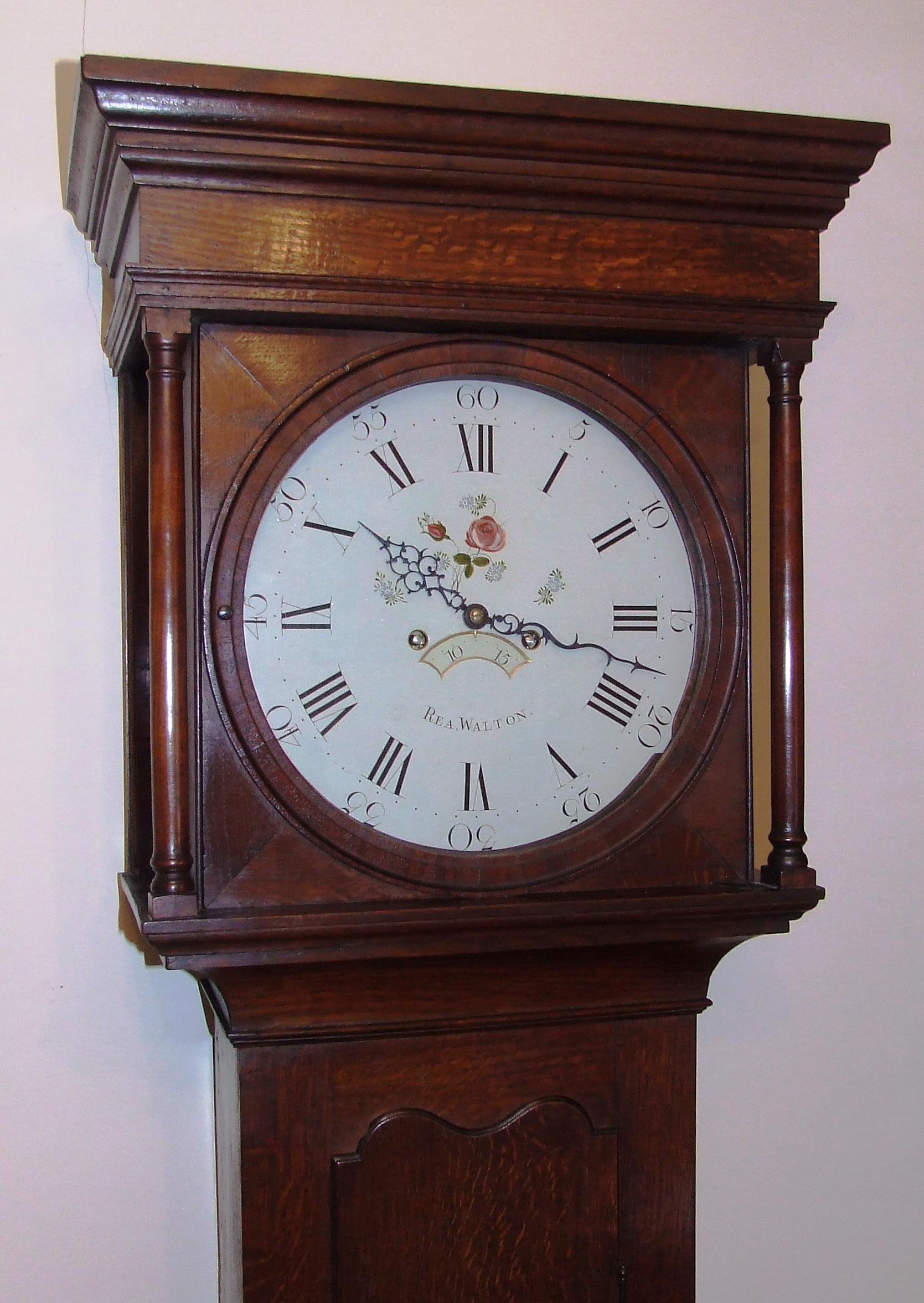 Antique Oak Longcase Grandfather Clock by REA, WALTON For ...