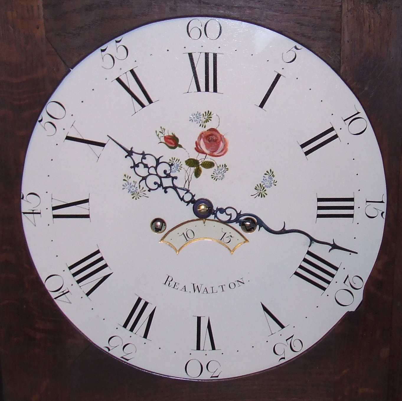 This Is A Super Oak Round Dial Longcase Clock An Exquisite Little Country Which Of Lovely Slim Proportions Absolutely