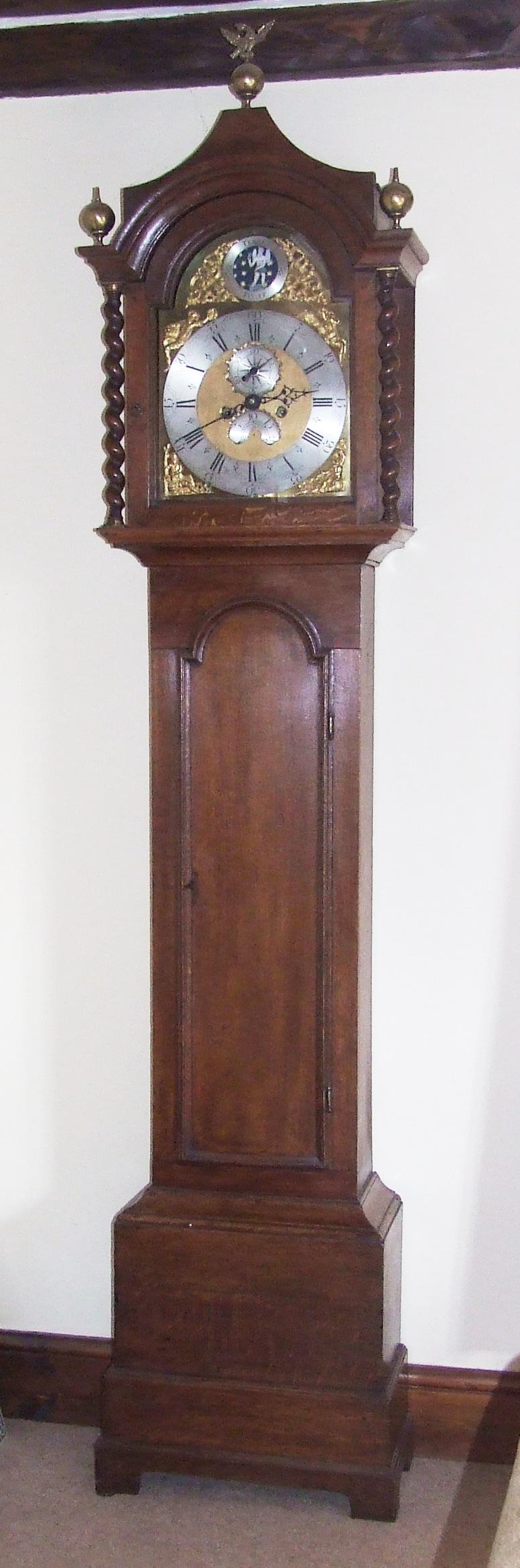Antique Automaton Grandfather Clock by Wm KENT SAFFRON ...