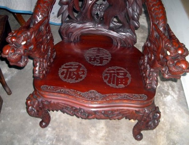 Antique Wood Carved Face Chair Antiques Center
