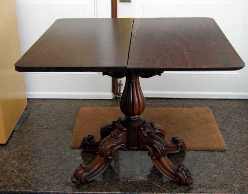 Antique Rosewood Victorian Game Table For Sale | Antiques.com