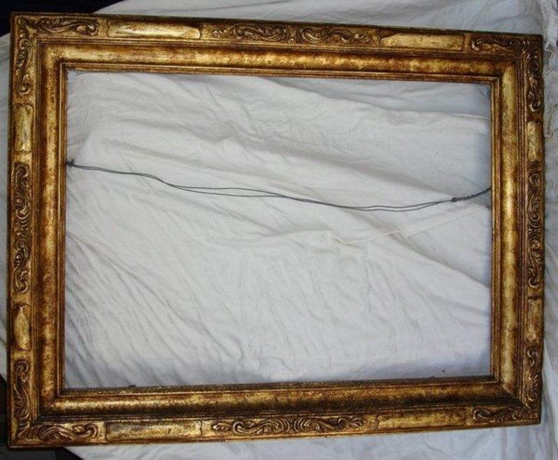 Vintage Wood Frame : ANTIQUE CARVED FRAME  ANTIQUES CENTER
