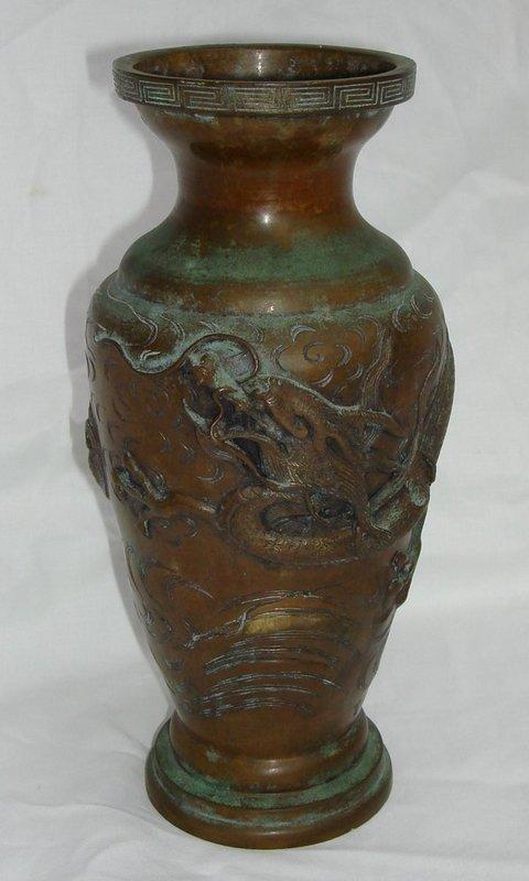 bronze dragon vase   eBay