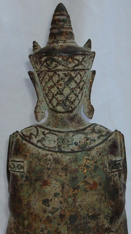 Antique Thai Bronze Buddha - Ayutthaya Kampheng For Sale ...