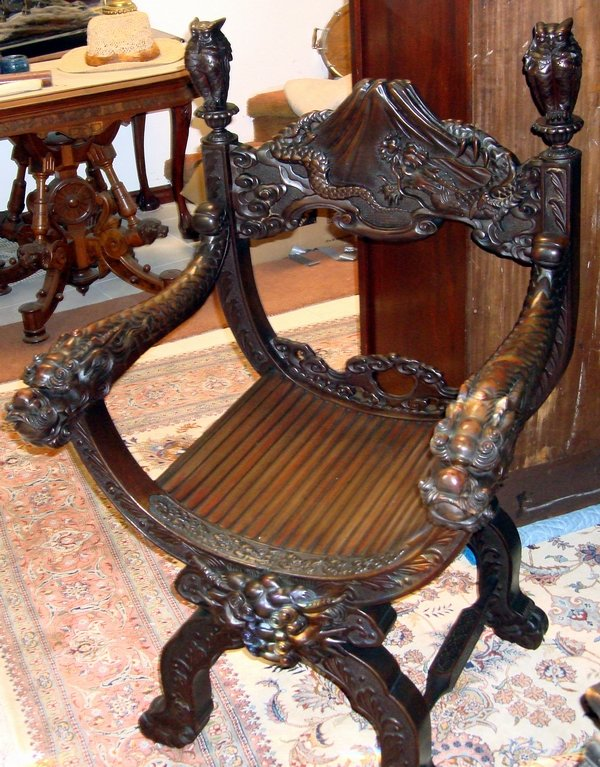Antique Wooden Carved Chair ~ For sale antiques classifieds