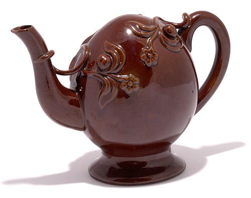 Copeland Cadogan Teapot Rockingham Glaze C 1850 For