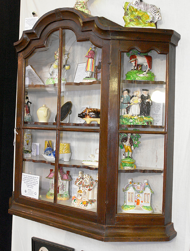 Dutch Oak Hanging Cabinet, The Shaped Pediment Above An Astragal Glazed  Door, With Two Further Glazed Panels Facing Off, The Shelves With Elegant  Shaped ...