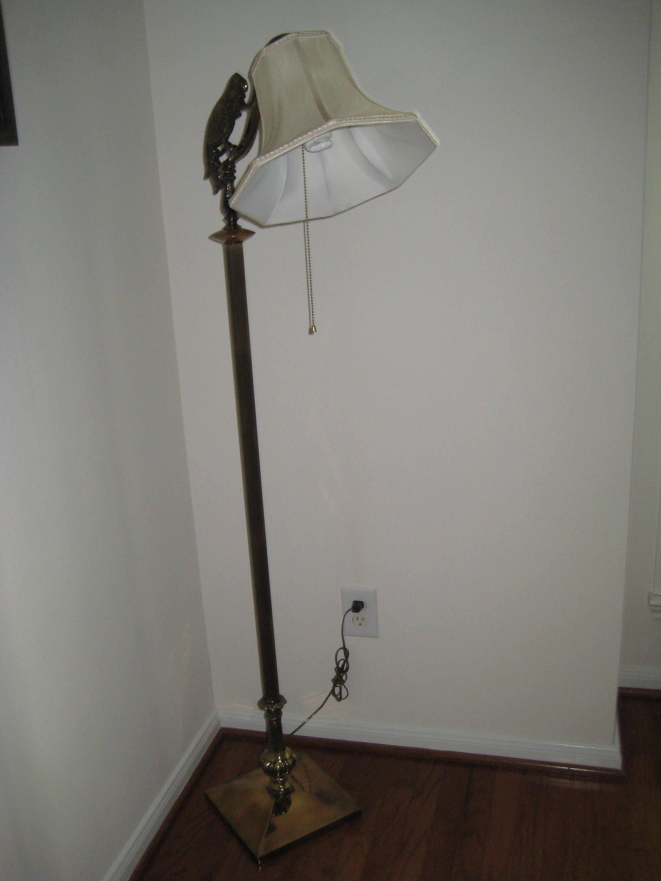 parrot arm bridgelamp plus shade for sale classifieds. Black Bedroom Furniture Sets. Home Design Ideas