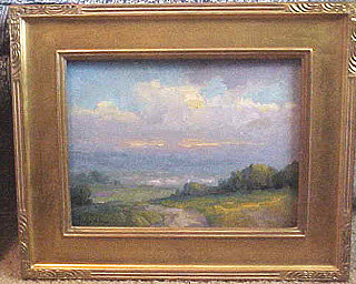 Ojai Painting Oil On Board By Joseph Aaron For Sale