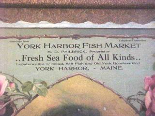 Nightingale antiques rare 1915 calendar york harbor fish for Harbor fish market portland maine