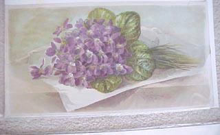 Violets by Paul de Longpre Art Print of Vintage Art