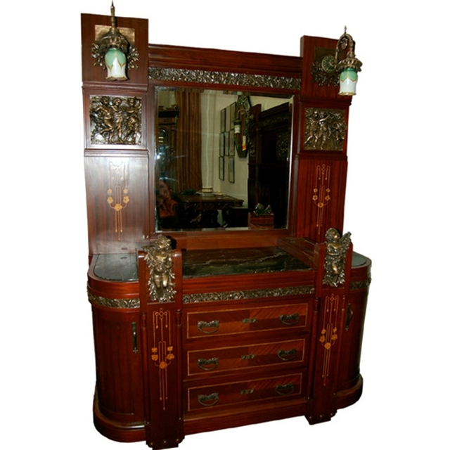 pc italian mahogany king size bedroom suite for sale