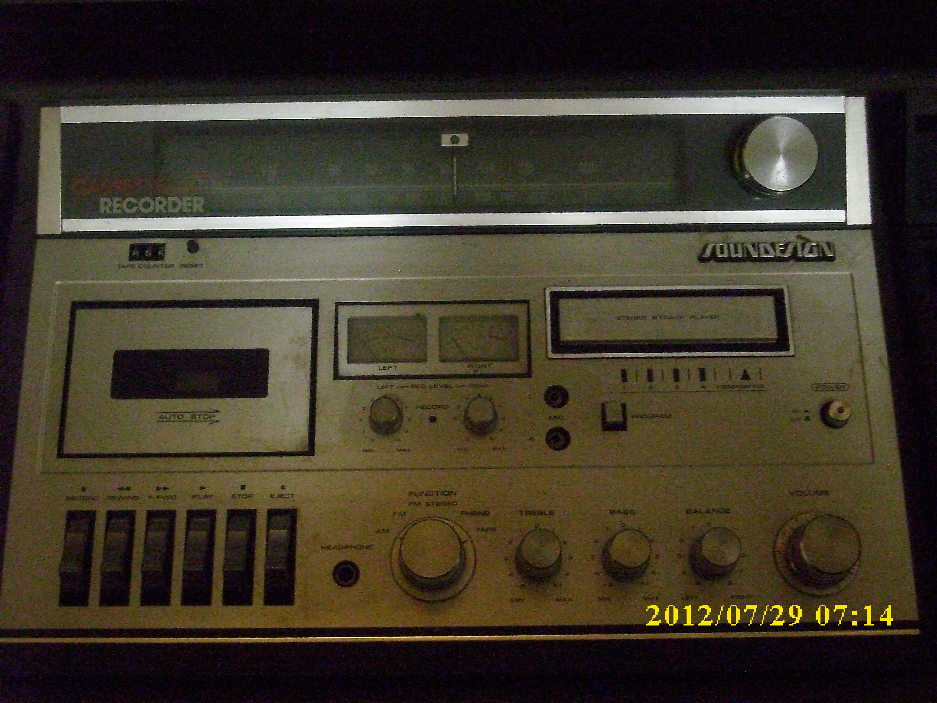 1964 Near Mint Solid State Stereo Bar Console Tuner