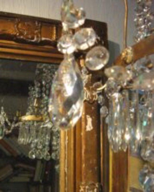 Gustavian Crystal Chandelier For Sale