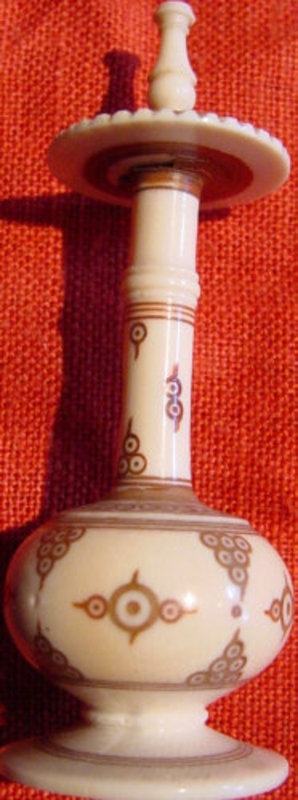 Persian Engraved Ivory Perfume Bottle For Sale Antiques