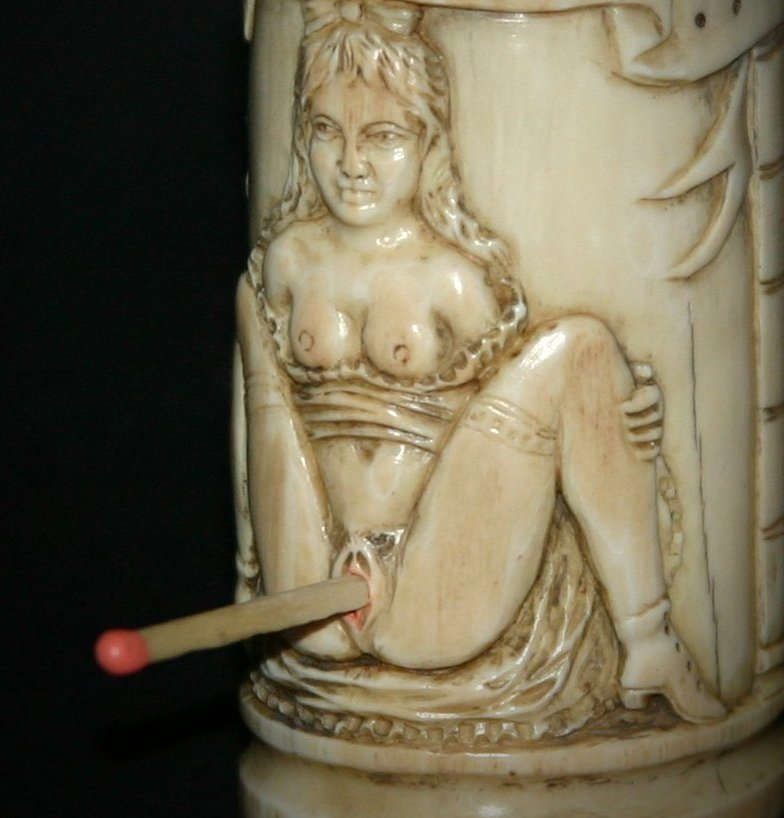 erotic ivory vesta case for sale antiques   classifieds