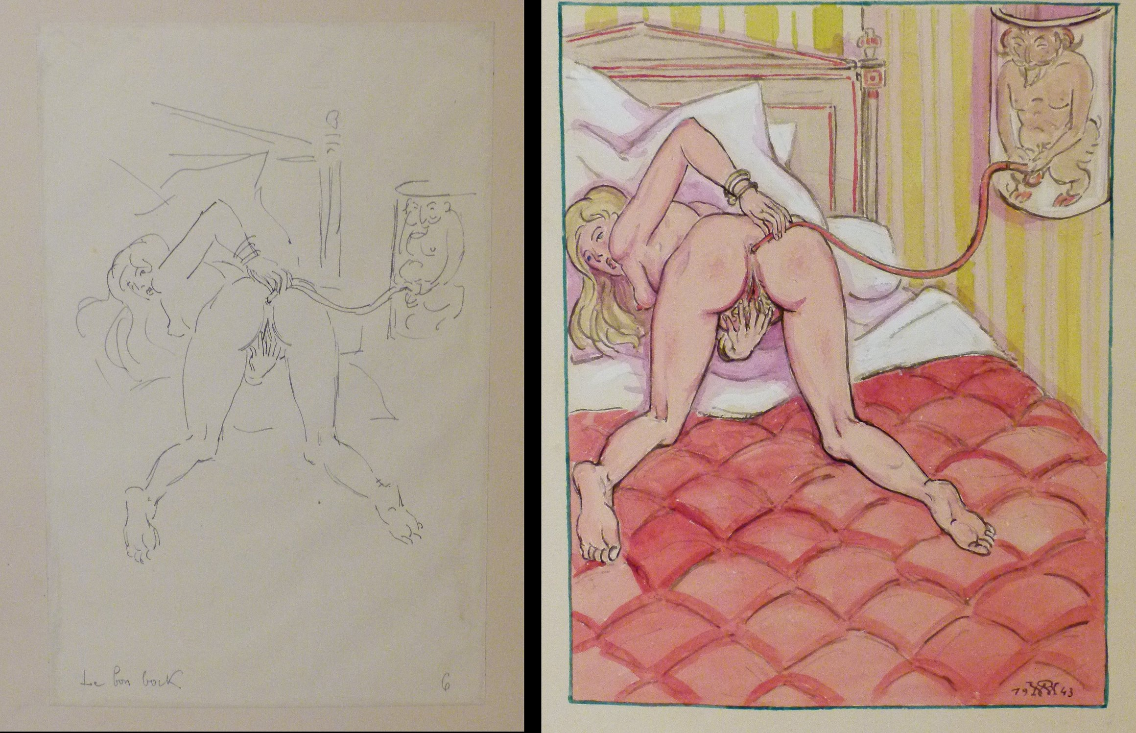 robet west erotic album watercolors american art for sale antiques