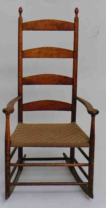 Rare 19th c american shaker classic mid period birdseye for American classic antiques