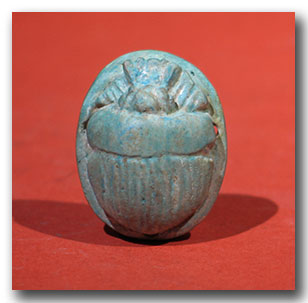 Egyptian turquoise faience heart scarab c 500 b c for for Faience turquoise