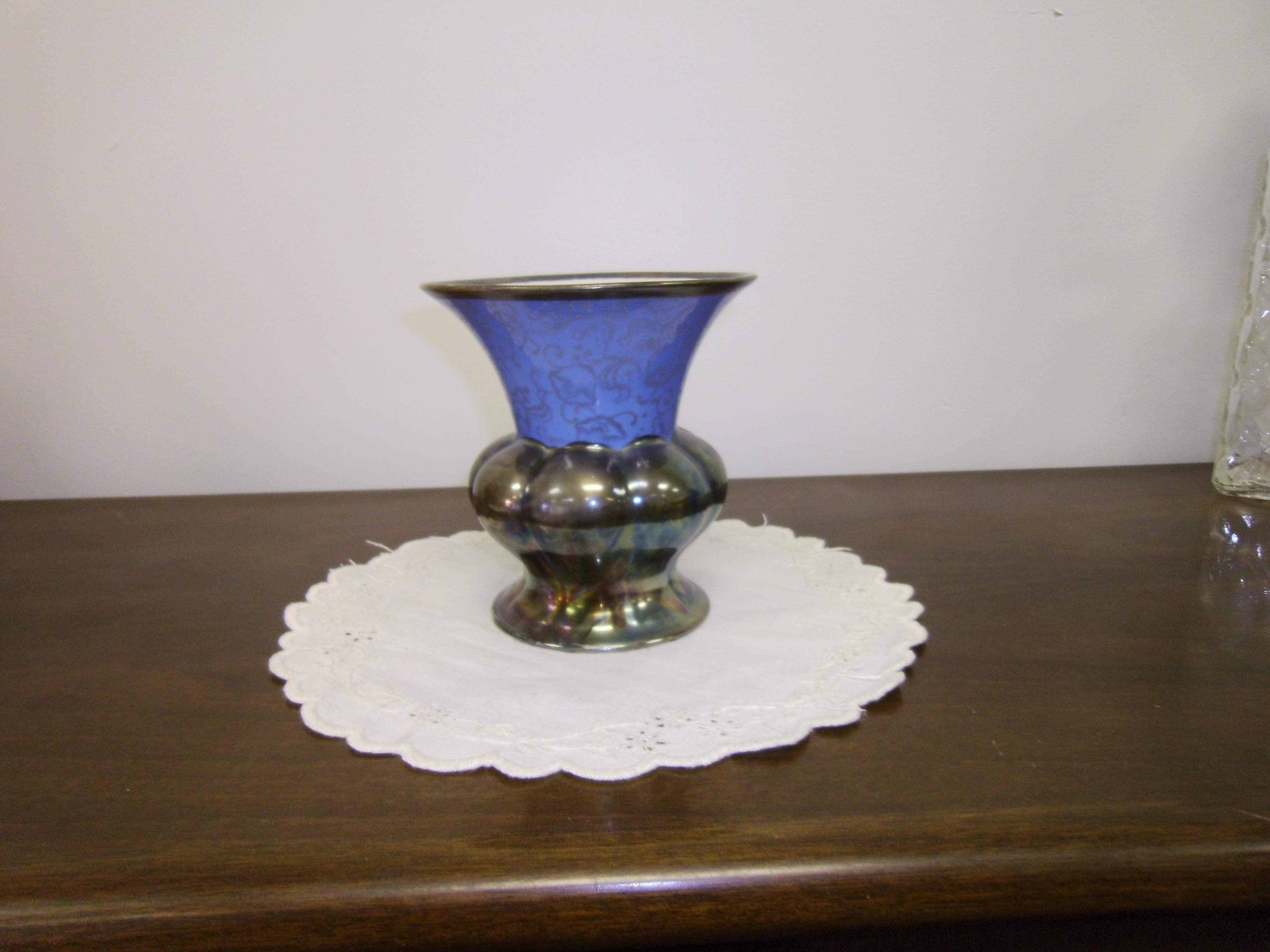 bavarian keram silber vase for sale. Black Bedroom Furniture Sets. Home Design Ideas