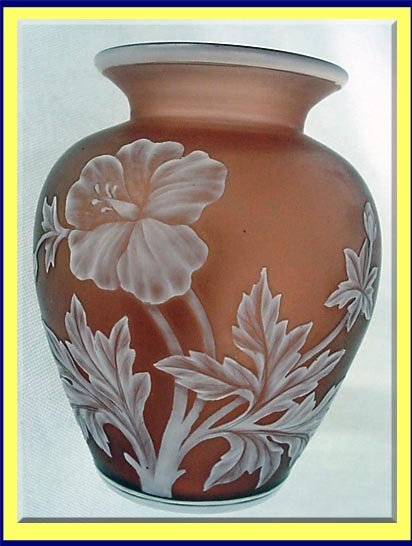 T Webb Cameo Art Glass Vase Rare Raisin Color For Sale Antiques
