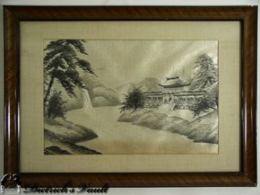 Framed Japanese Silk Embroidery For Sale Antiques Com Classifieds
