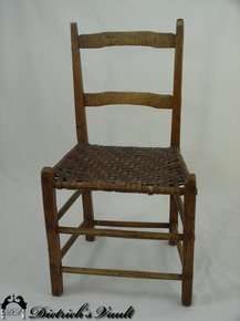 Pair Of Primitive 18thc Ladder Back Chairs For Sale Classifieds