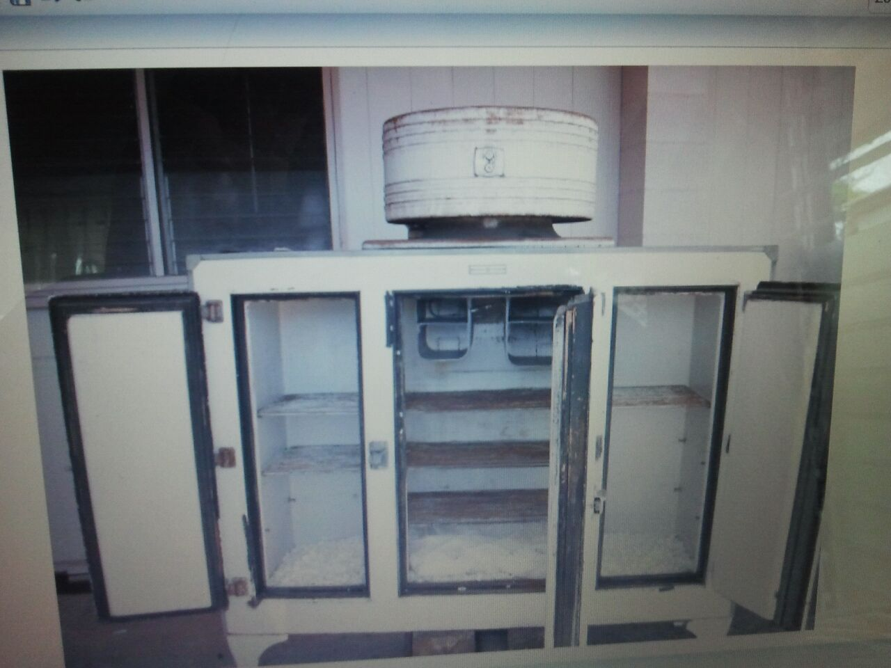 Antique G E Refrigerator W Monitor For Sale Antiques Com