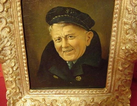 Oil On Board Of Old Sea Captain For Sale Antiques Com Classifieds
