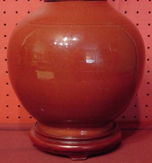 Chinese Export Oxblood Vase Made Into Lamp For Sale Antiques
