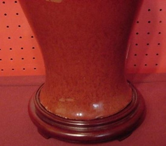Chinese Export Oxblood Vase Made Into Lamp For Sale