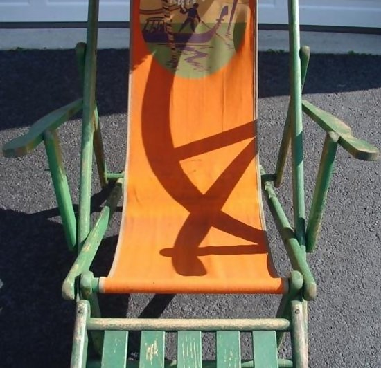 C 1920 1940 Chaise Lounge Beach Chair By Gold Medal For