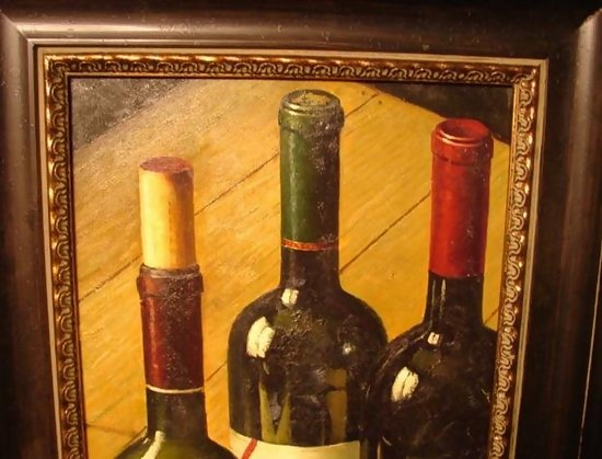 Contemporary Painting Of Wine Bottles Framed For Sale