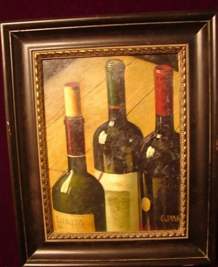 Classifieds antiques art paintings for What kind of paint to use for wine bottles
