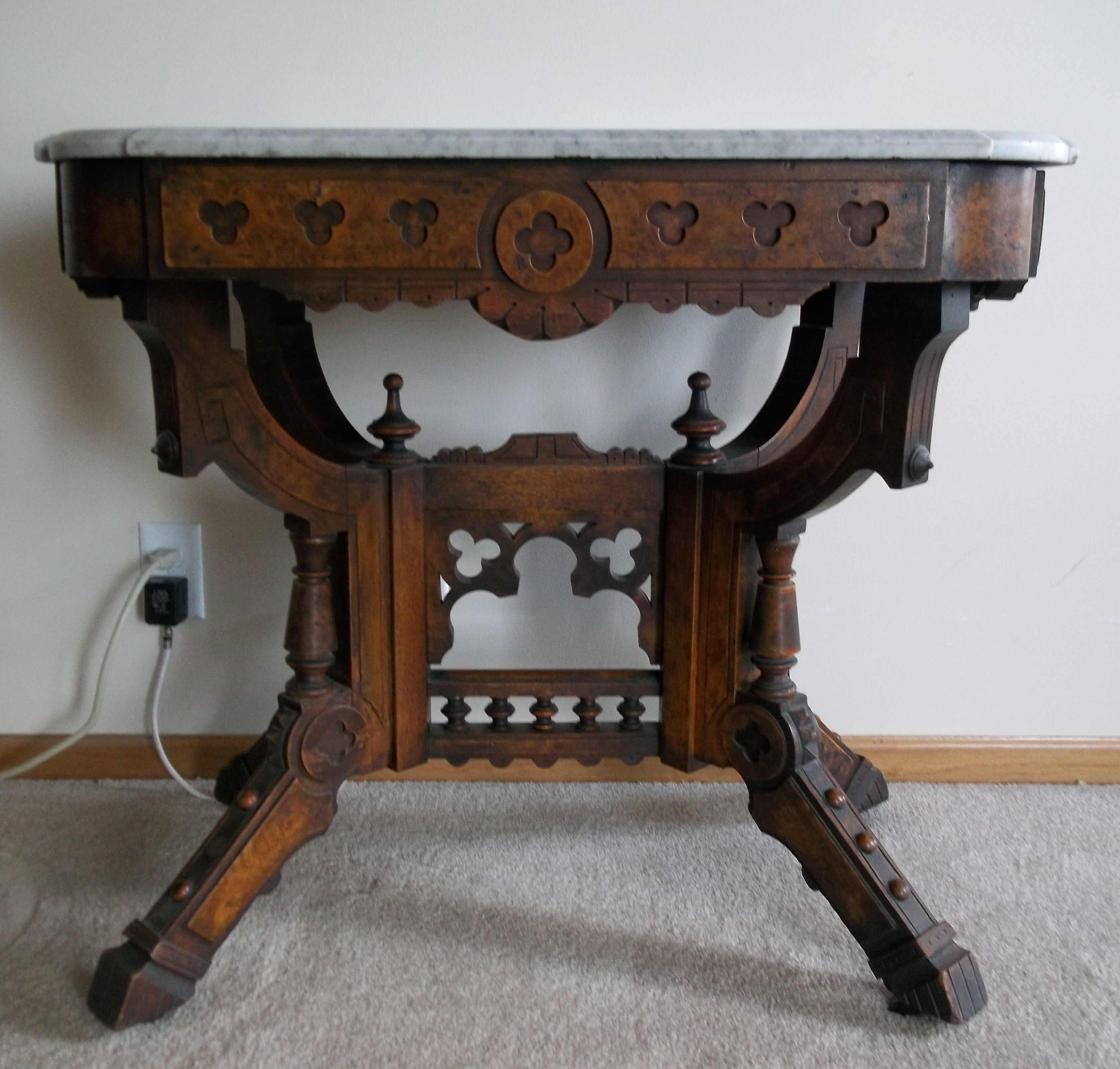 Marble top tables for sale - East Lake Oak Side Marble Top Table For Sale Antiques Com Classifieds
