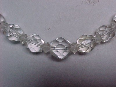 Faceted Rock Crystal Czech Choker Necklace Graduated For